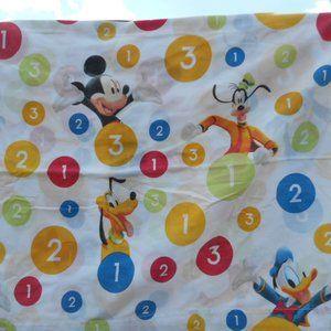 Disney Mickey Mouse Donald Duck Flat twin Sheet